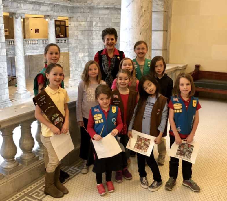 Rep. Arent and the Millcreek Girl Scout Troup
