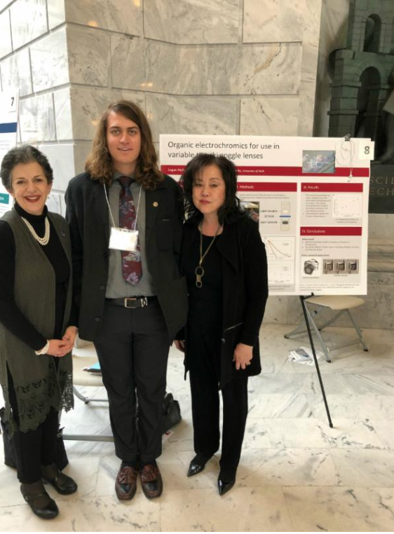 Representative Arent, U of U student Logan Kiefer, and Senator Iwamoto at Research on Capitol Hill day