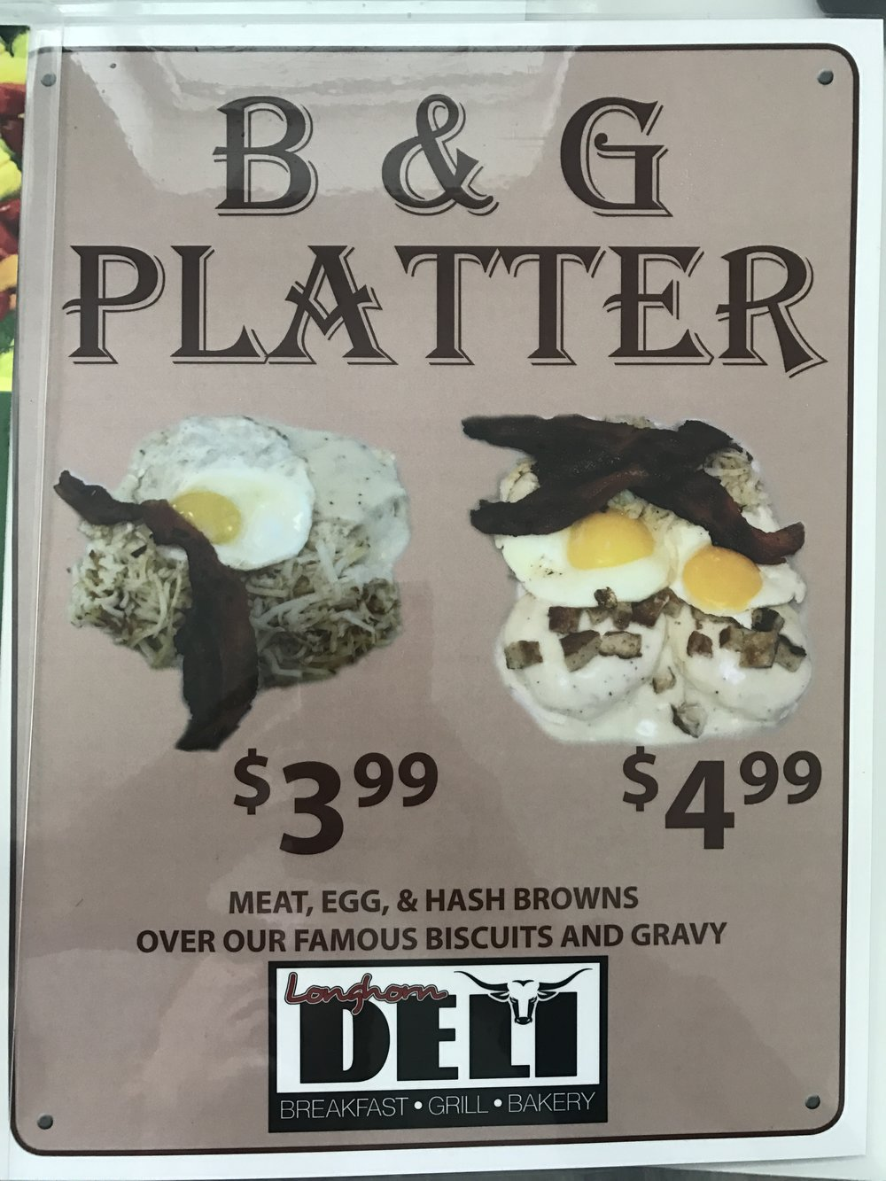 The B&G Platter was done no justice in this poster