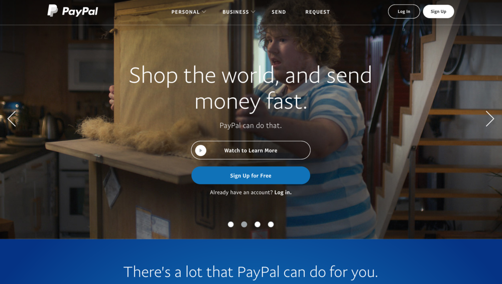Paypalhomepage