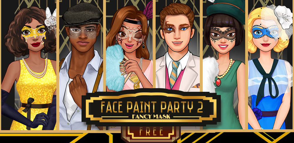 Face Paint Party 2! Girl Games  Are you ready to go back to the 1920s?OMG, are you ready to go back the 1920s flapper masquerade party!!!!