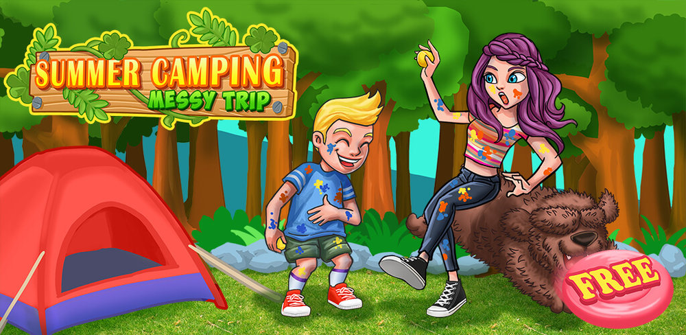 Siblings War -  Summer Outdoor Camping Day!  Summer Break is coming! And also the family camping day!You gonna spend a whole trip with your siblings!Is it gonna be fun or trouble?