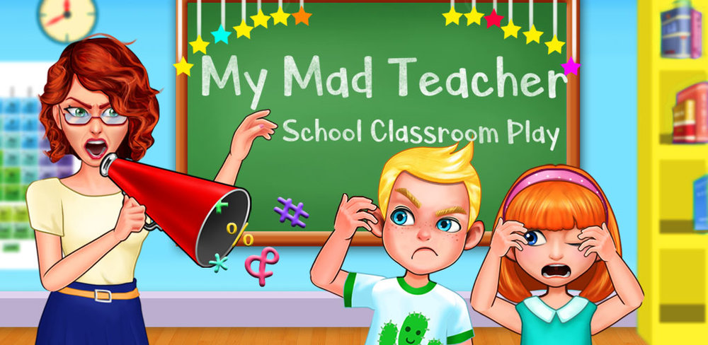 Crazy Mad Teacher School Play  It's Monday, Alex is going to school! He will enjoy a lot of fun such as chatting with classmates, playing soccer and having great lunch!