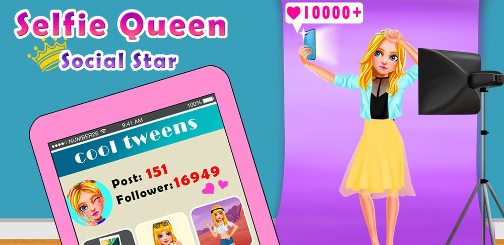 Selfie Queen Social Superstar  What the feeling to become a social star?Betty, the most popular beauty blogger, is invited to participate in a social star competition.