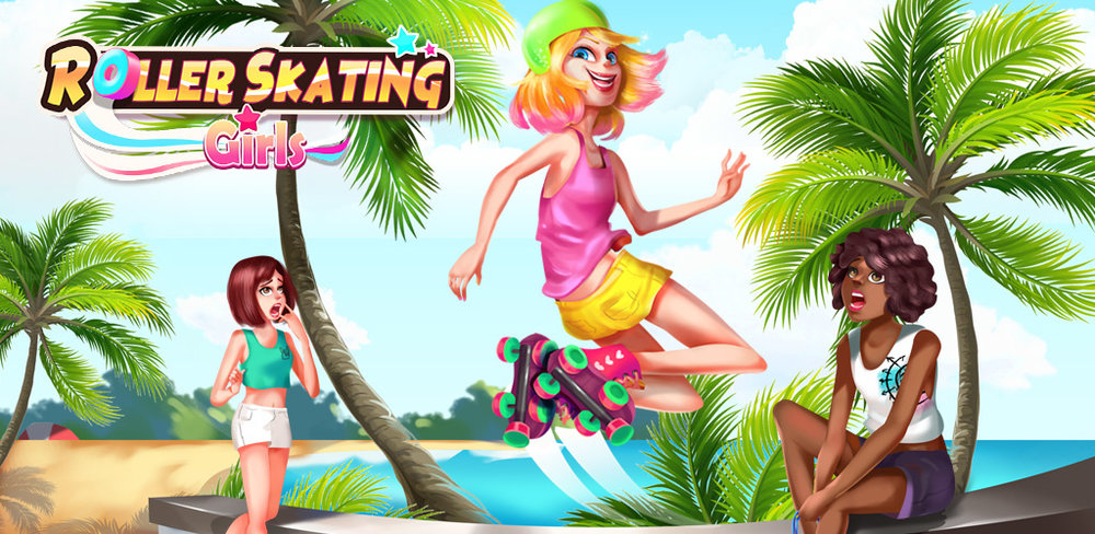 Roller Skating Girl: Perfect 10 ❤ Free Dance  The most amazing thing is having friends who like roller skating as much as you, dance on wheels, in this super cool girl game!