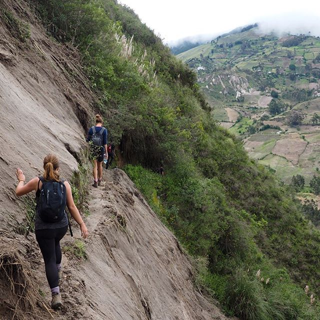 Walking on the edge as we try to take on the landslides (on what we later found out to be a closed route)! —————— All part of the fun of a rainy afternoon hike in central Ecuador! —————— For more check out our blog at www.detourbydesign.com __________ #OurPlanetDaily #wildernessculture  #nakedplanet #exploretocreate  #campeveryday #wildernesscollective #natgeo #travel #vanlife #adventureculture #huntingforviews #welivetoexplore #roamtheplanet #folkscenary #artofvisuals #roamtheplanet #beautifuldestinstions #natgeolandscapes #livefolk #stayandwander #exploremore #roamearth #ig_color #outboundliving  #wildlifeplaner #optoutside #travelstoke #wonderfulplaces #folkscenery #hiking #southamerica