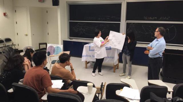 学员们在展示她们的讨论结果