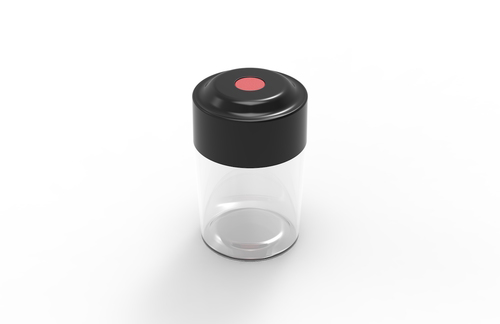 VACJAR   VacJar is a vacuum-sealed, airtight container that extends the life of your products. Available in child-lock version. It is customizable and stackable.