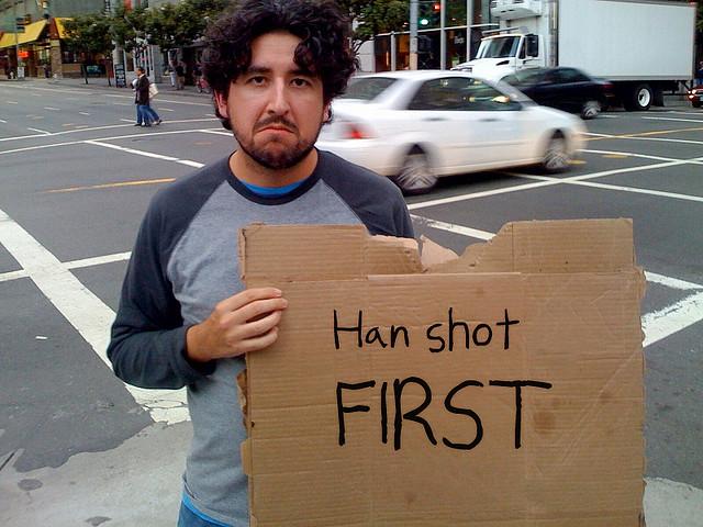 Ricordiamo al gentile pubblico che Han ha sparato per primo.