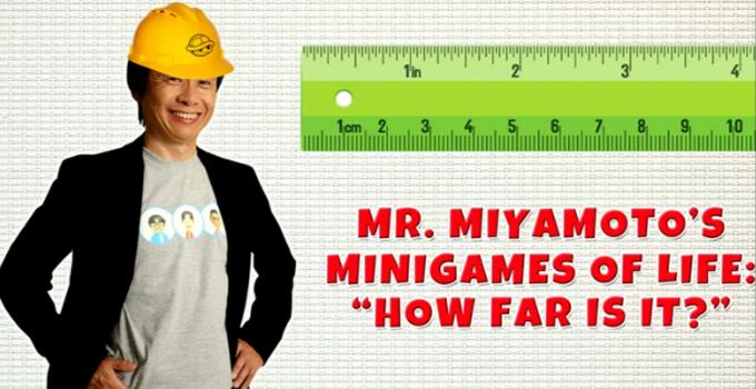 Miyamoto porta sempre in tasca un righello, col quale si diverte a indovinare la distanza o la lunghezza degli oggetti.