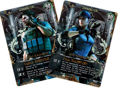 Resident Evil Deck Building Game - personaggi