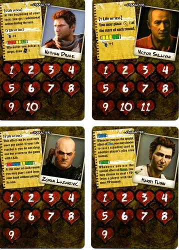 Uncharted The Boardgame - carte