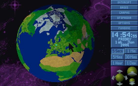 La mappa del mondo da cui sorvegliamo il nostro pianeta e lanciamo le intercettazioni. Aoh, era tutta 3D, eh!