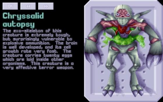 Beccato! Una delle autopsie del primo UFO: Enemy Unknown. Dopo un po' gli scienziati ci chiederanno di pigliarli vivi, 'sti fetenti. E allora saranno casini…