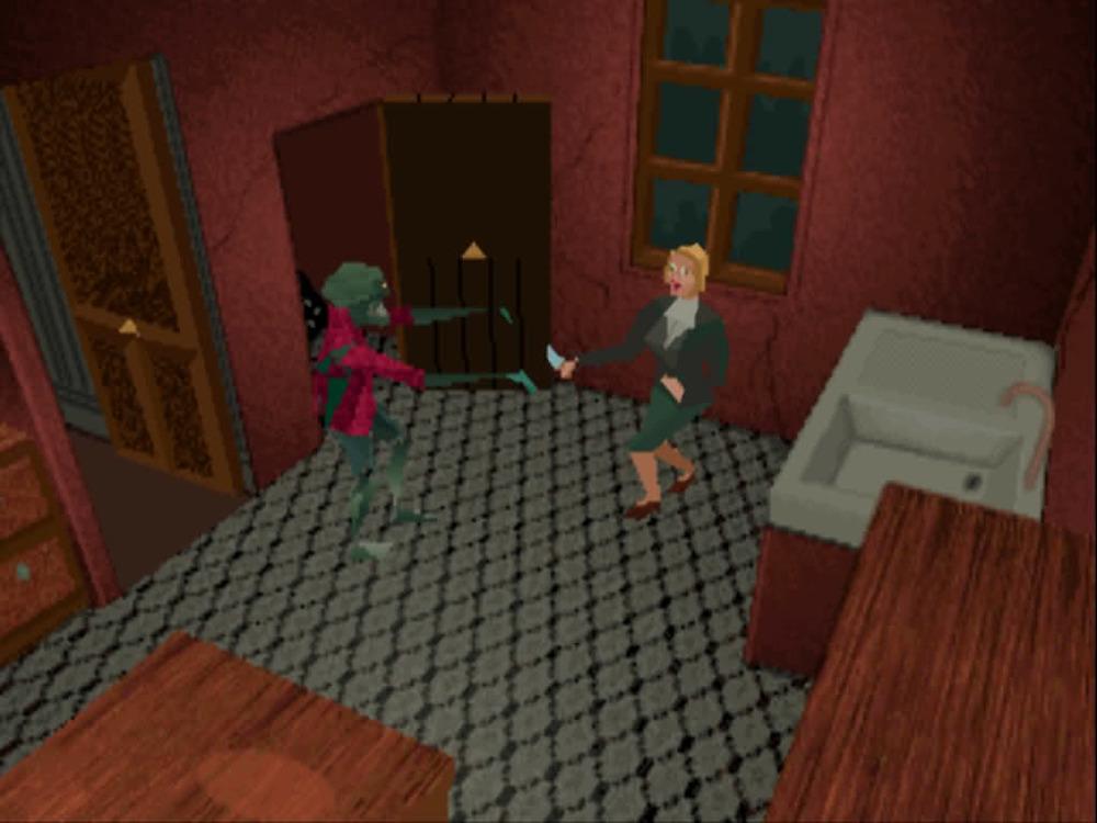 Nel citare l'uccellazzo di Alone in the Dark, che entra in casa sfondando il vetro di una finestra, Raynal non nasconde la frecciatina al cane di un certo altro gioco.