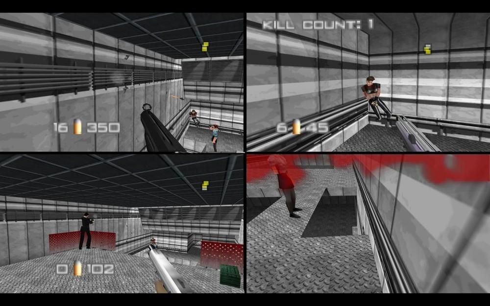 Per realizzare il multiplayer venne ridotta di circa un quarto la complessità grafica degli ambienti. La foto è tratta da un emulatore.