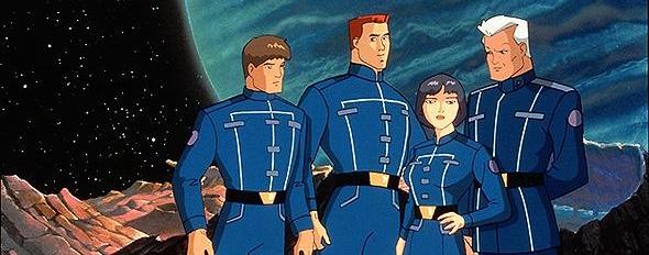 Eccoli, da sinistra a destra: Mark Hamill, Tom Wilson, Dana Delany e Malcolm McDowell.