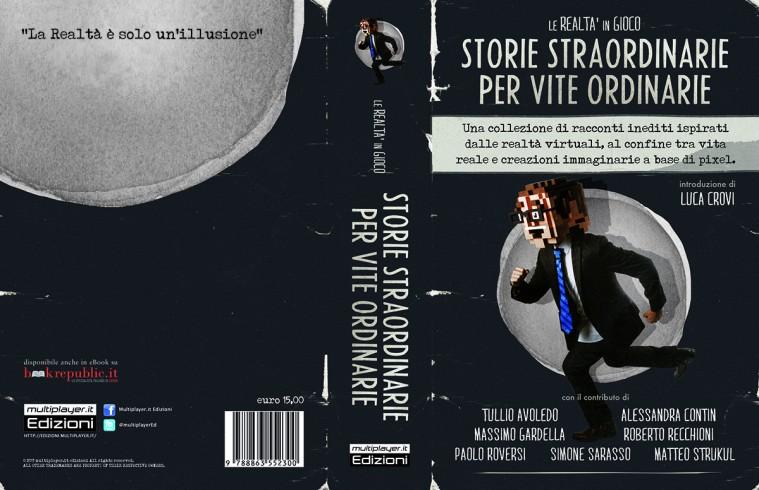 Esploso della copertina e quarta di copertina del libro.