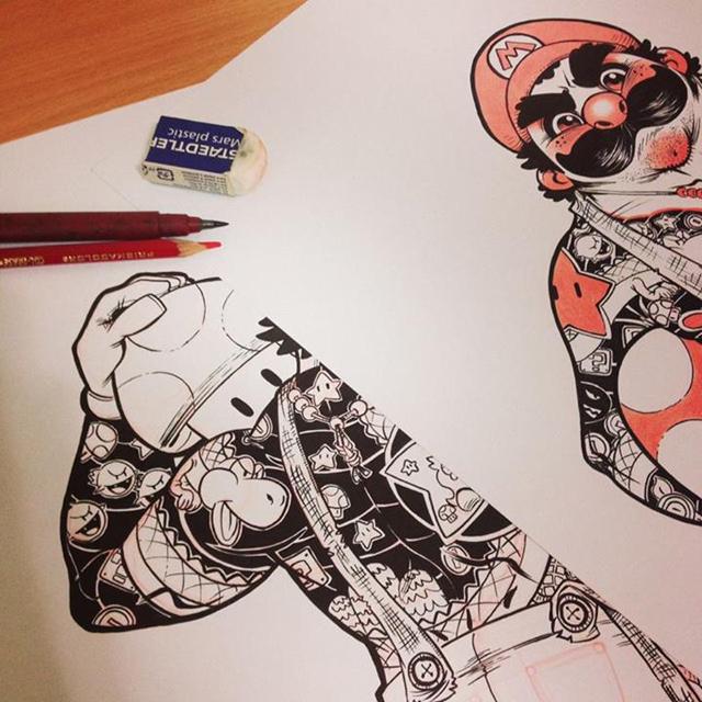 Eduardo-Vieira-Yakuza-Luigi-Detail-2