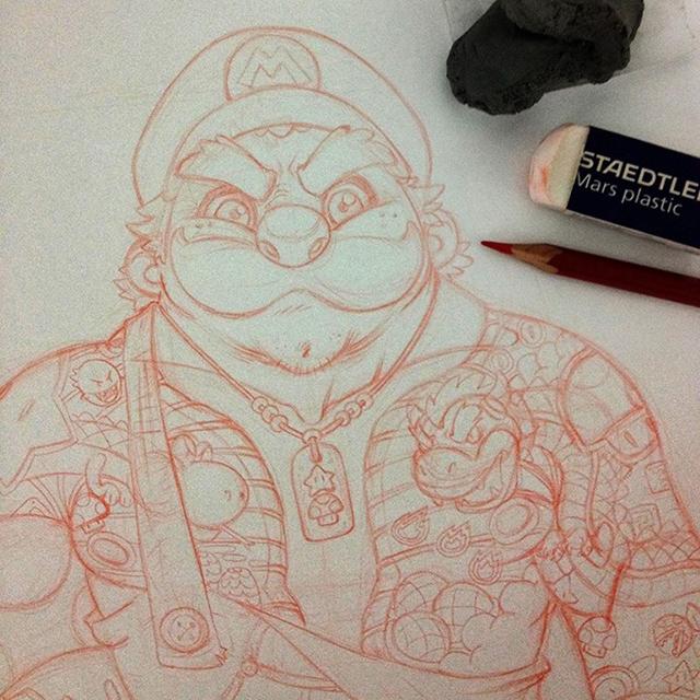 Eduardo-Vieira-Yakuza-Mario-Detail4