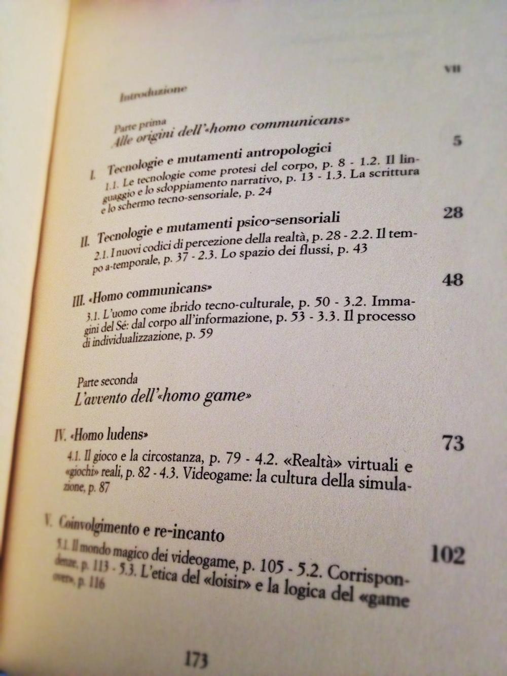 Indice del volume (continua a pagina 174).