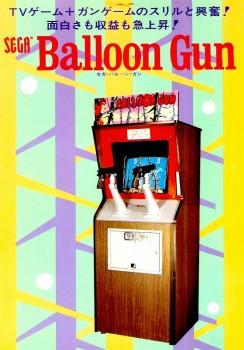 Il pregevole cabinato di Balloon Gun.