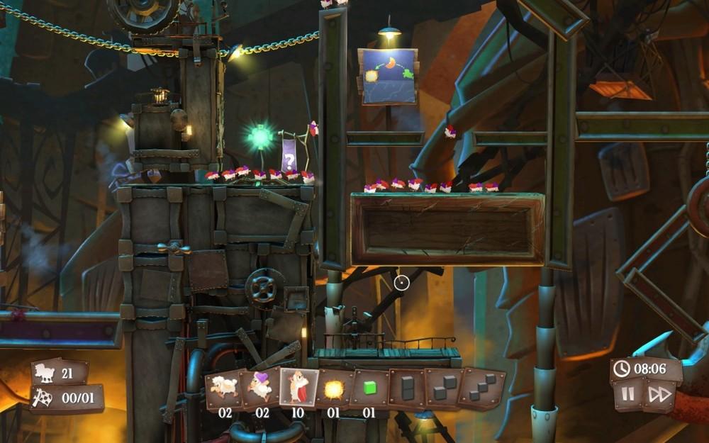 I primi livelli sono accompagnati da guide grafiche non troppo invadenti che suggeriscono come risolvere il livello. Procedendo... scompaiono.