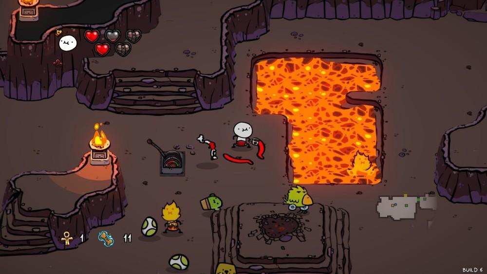 1I dungeon pullulano di lava e roba strana.