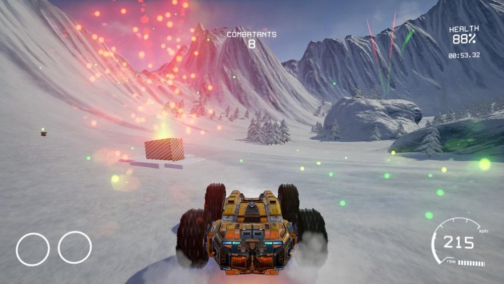 1) L'arena natalizia! Le arene sono abbastanza ben congegnate per potersi massacrare di missili e mitra in allegria, con passaggi particolari creati ad hoc per sorprendere gli avversari.