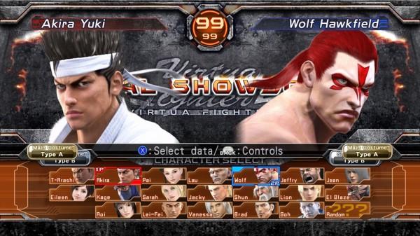 Virtua Fighter 5 Final Showdown: Selezione Personaggi