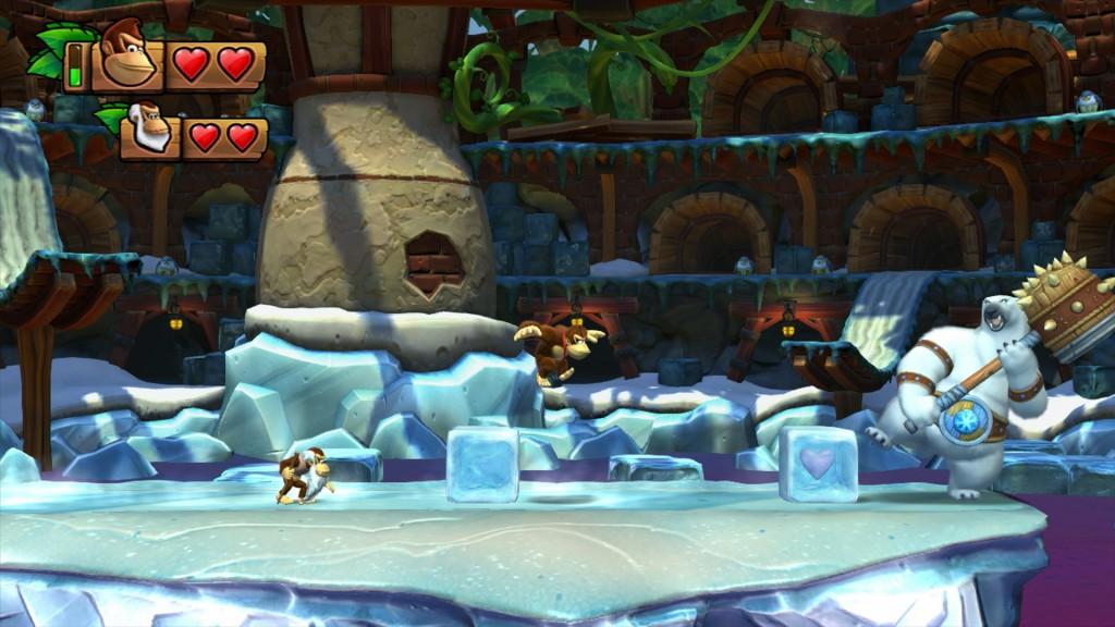 I livelli non sono tutti ghiacciati come questo, ma tra di loro sono più vari di quanto non fossero nel primo Donkey Kong Country.