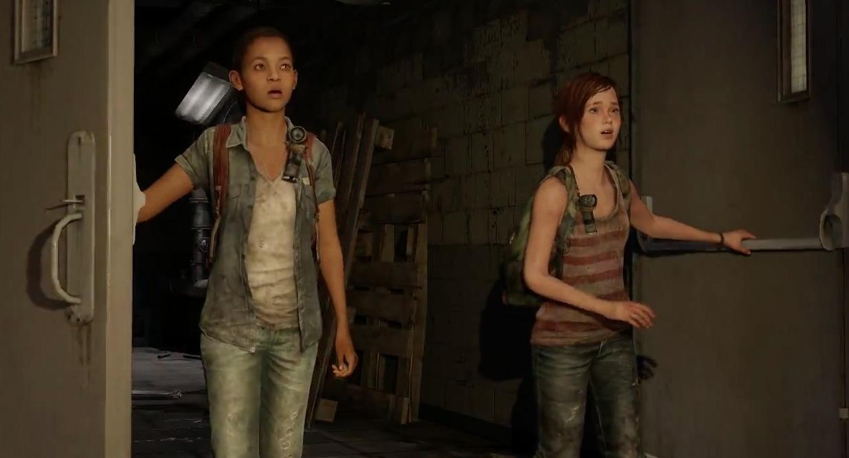 Riley ed Ellie, state sfondando una porta aperta.
