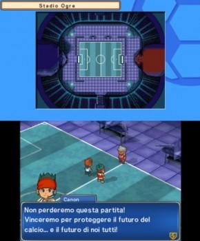 Come potete notare la grafica è assolutamente identica a quella dei due precedenti Inazuma Eleven 3 e mutuata dalla versione Nintendo DS. E comunque… Team Ogre io tifo per voi!!