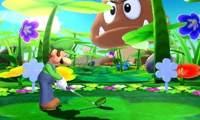 I campi ambientati nel mondo di Mario sono quelli più fuori di testa, tipo questo ambientato in un giardino gigante!