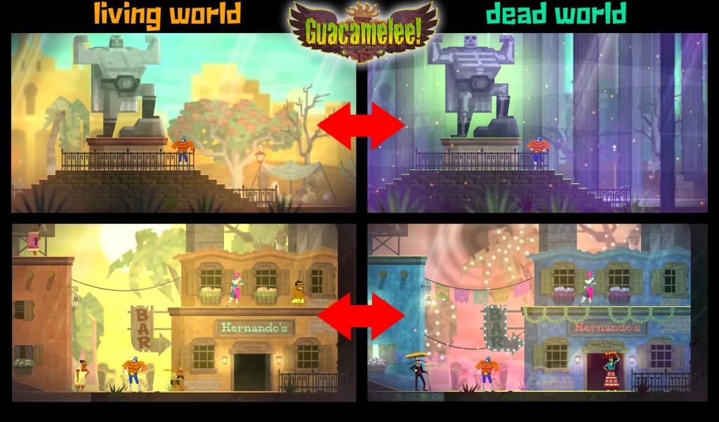 È sempre bello constatare l'ingegno di uno sviluppatore nell'incastrare due universi di gioco che convivono senza pestarsi i piedi l'un l'altro. Una roba che Guacamelee! fa alla grande.