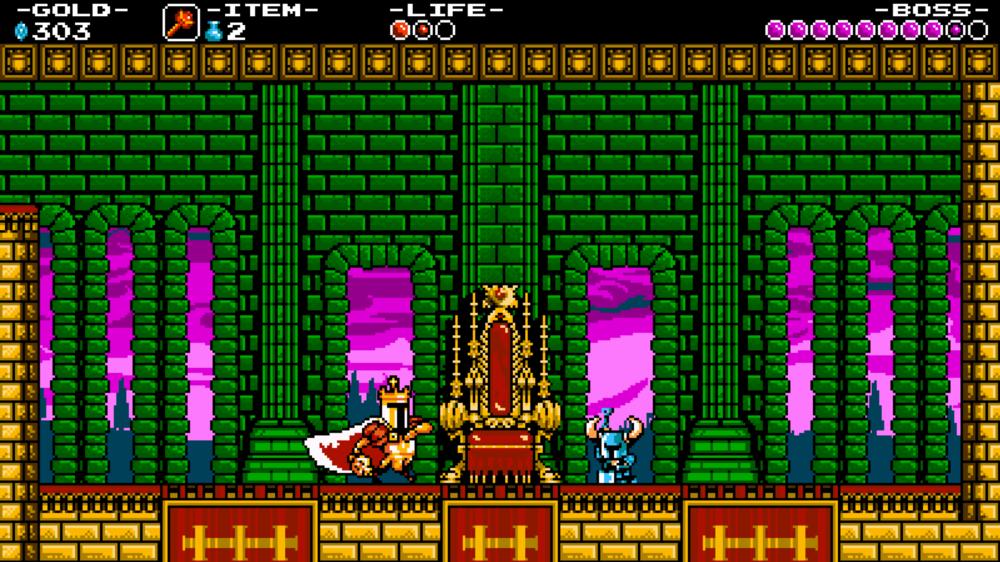 King Knight è il secondo o terzo boss, dipenda da come giocate, e succhia anche abbastanza, con lui potete andare tranquilli.