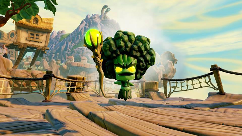 Broccoli Guy è uno dei villain più simpatici. La sua abilità speciale consente di curare gli Skylanders.