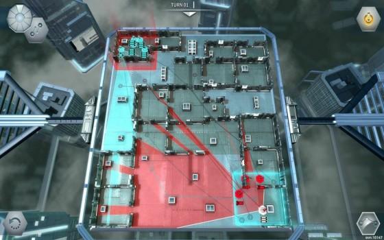 L'area rossa rappresenta il raggio d'azione dell'unità in questione.