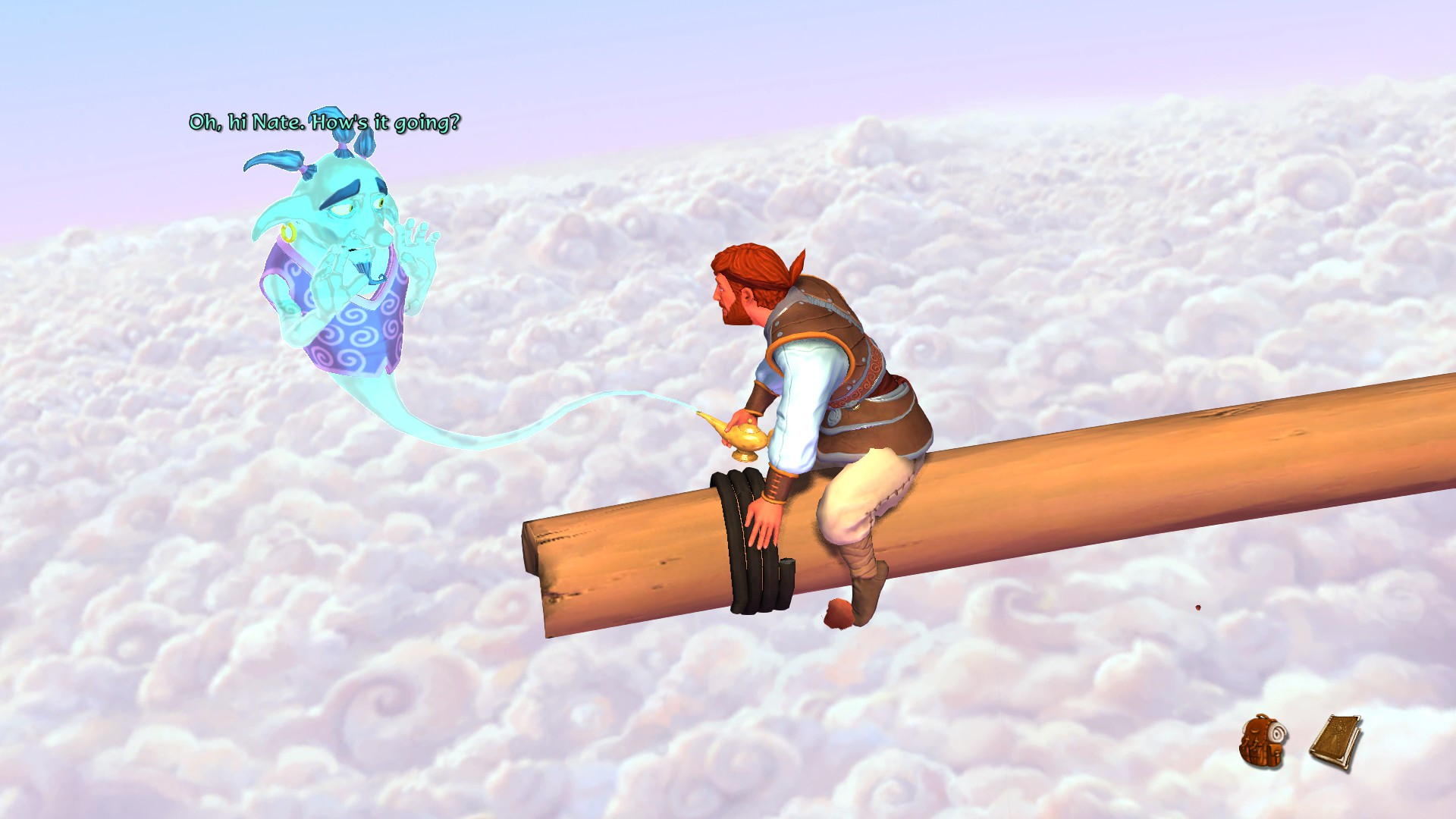 Nate, sempre con la testa tra le nuvole.