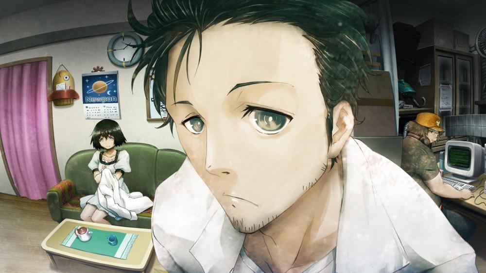 Ecco Rintaro Okabe, il protagonista… bisogna farsene ben presto una ragione.