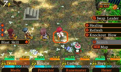A proposito di idee, ottimo il modo in cui vengono gestite le abilità in battaglia: un paio di tasti combinati e si evita di entrare nei menu!