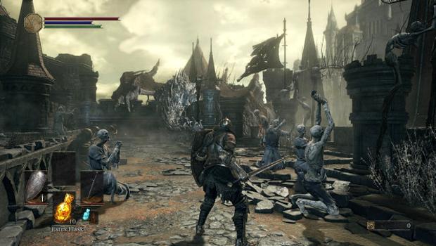 La cornice plumbea e l'atmosfera di dannazione ricorda molto Bloodborne.