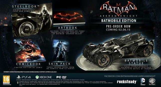 Notare che la Batmobile è una statua trasformabile, mica la solita macchinina.