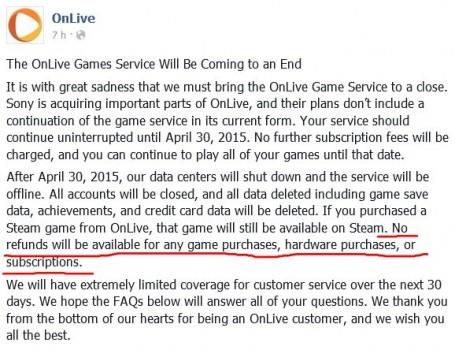 Agli utenti OnLive sarà consegnato un Kg di vaselina tramite corriere.