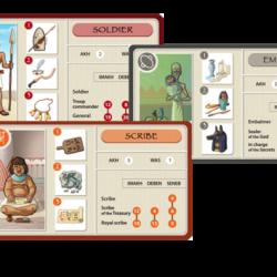 Il design delle card di gioco di Nebtauy