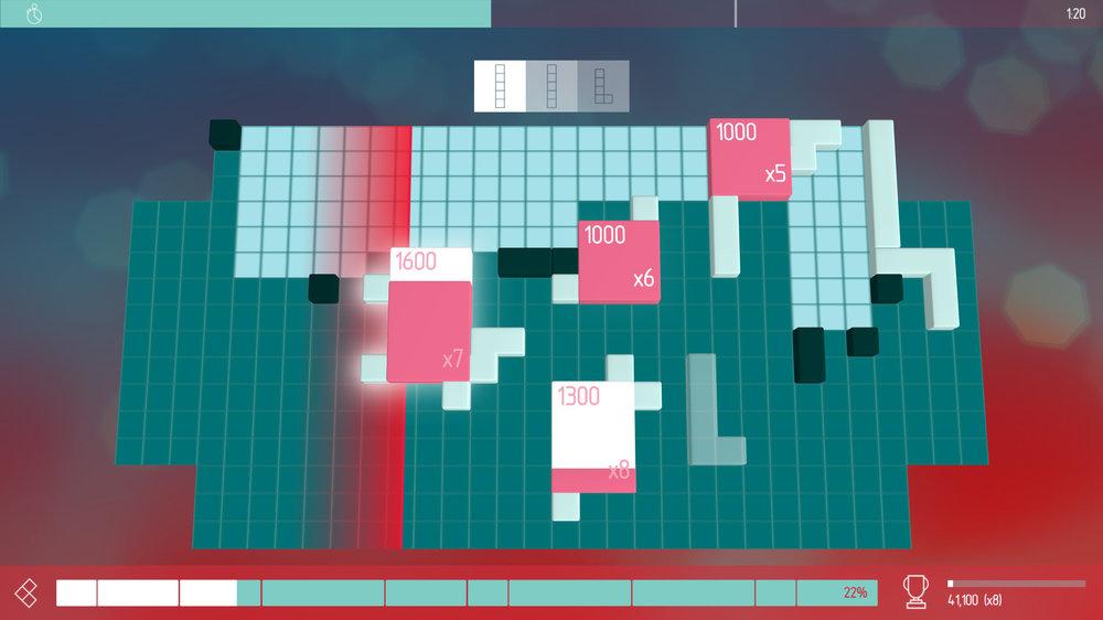 Non è necessario che i quadratoni siano vicini per ottenere una combo.