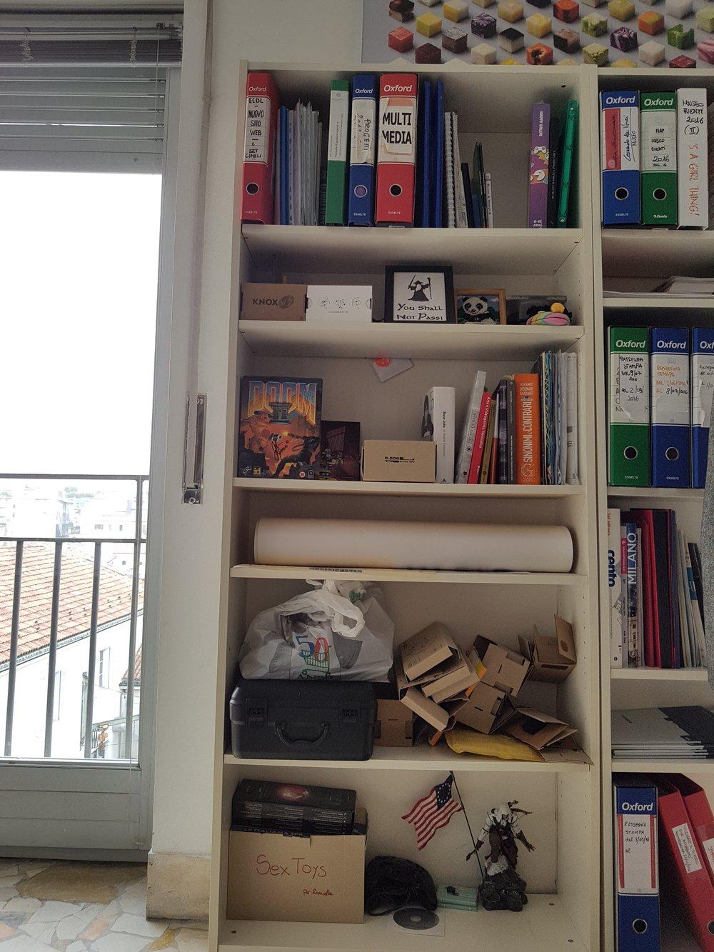 Uno scatto dall'ufficio di Luca Roncella.