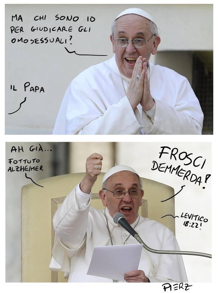 Un pratico riassunto della linea editoriale del papa.