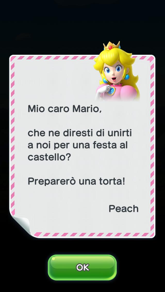 L'invito di Peach per... la torta.
