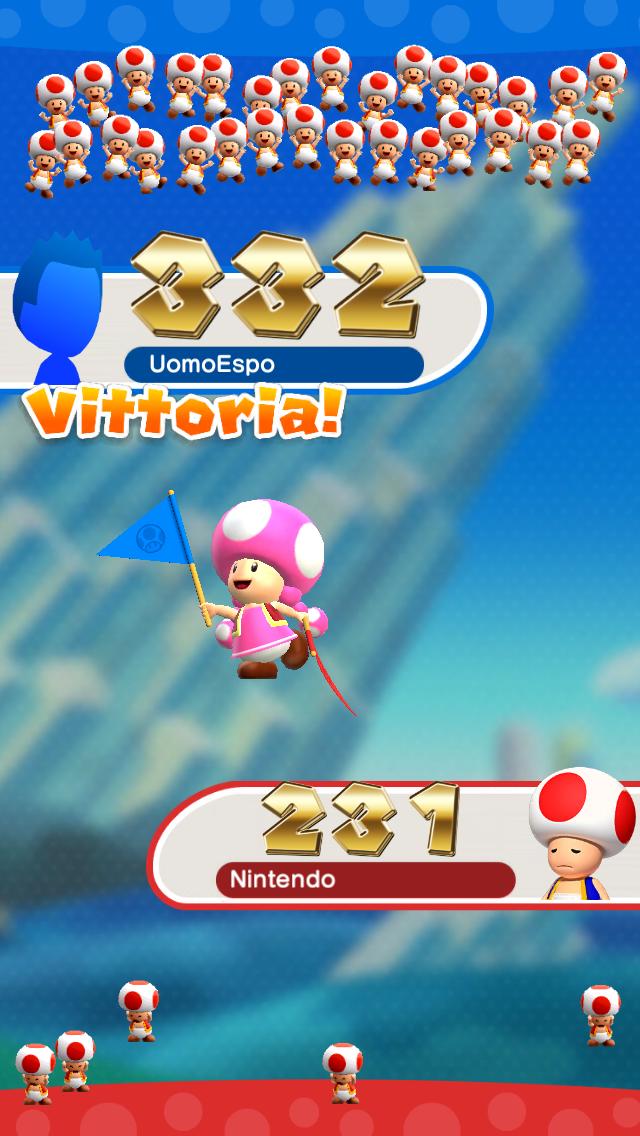 Qui il Regno dei Funghi festeggia il fatto che siete più bravi di quell'incapace del vostro amico.